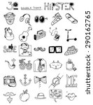 thirty doodle icons hipster...   Shutterstock .eps vector #290162765