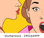 beautiful retro woman... | Shutterstock .eps vector #290164499