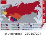 Map And Flags Of The Republics...