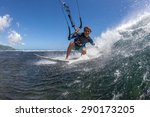 kite surfer rides among the... | Shutterstock . vector #290173205