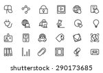 communication vector line icons ...