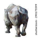 white rhinoceros ceratotherium... | Shutterstock . vector #290175599