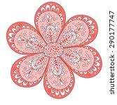 vector cute flower isolated on... | Shutterstock .eps vector #290177747