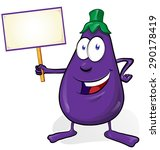 eggplant cartoon isolated on...   Shutterstock .eps vector #290178419