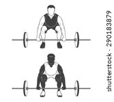 weightlifting athlete lifting a ... | Shutterstock .eps vector #290183879