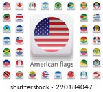 set of flags of the americas.... | Shutterstock .eps vector #290184047
