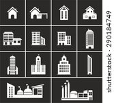 set of building icon vector | Shutterstock .eps vector #290184749