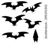 set of silhouette vampire bat... | Shutterstock .eps vector #290191541