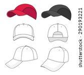 baseball  tennis cap vector... | Shutterstock .eps vector #290193221