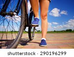 close up of young woman with... | Shutterstock . vector #290196299
