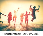 friendship freedom beach summer ... | Shutterstock . vector #290197301