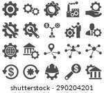 settings and tools icons.... | Shutterstock .eps vector #290204201
