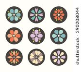 cute set of flat color icon... | Shutterstock .eps vector #290208044