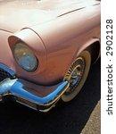 pink american classic car