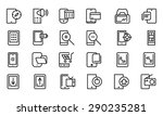mobile vector line icons 4 | Shutterstock .eps vector #290235281