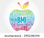 colorful bmi   body mass index  ... | Shutterstock .eps vector #290238194