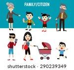 happy family members. modern... | Shutterstock .eps vector #290239349