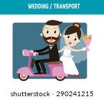 groom and bride character... | Shutterstock .eps vector #290241215