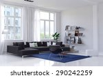 spacious bright living room... | Shutterstock . vector #290242259