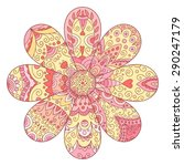 abstract vector flower isolated ...   Shutterstock .eps vector #290247179