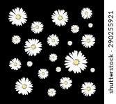 daisy print in vector | Shutterstock .eps vector #290255921