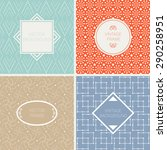 set of vector mono dotted on... | Shutterstock .eps vector #290258951