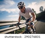 cyclist in maximum effort in a... | Shutterstock . vector #290276831