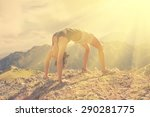 Woman Doing Yoga In The...