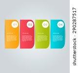 business infographics tabs... | Shutterstock .eps vector #290287517
