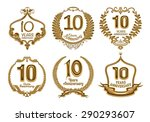 anniversary label collection ...   Shutterstock . vector #290293607