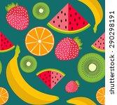 vector background fruit | Shutterstock .eps vector #290298191