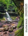 A Seasonal Waterfall Flows Ove...