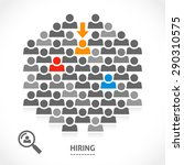 concept of hiring new vacancy.... | Shutterstock .eps vector #290310575