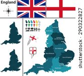 vector map of england with... | Shutterstock .eps vector #290322827