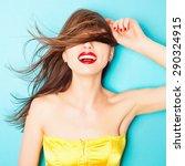 expressive portrait of a...   Shutterstock . vector #290324915