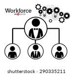 worforce design over white...   Shutterstock .eps vector #290335211