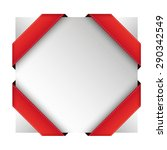 vector corner ribbon red | Shutterstock .eps vector #290342549