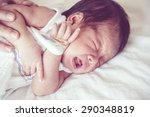 sick baby  soft focus and... | Shutterstock . vector #290348819