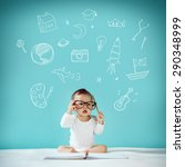 baby born to be the genius  new ... | Shutterstock . vector #290348999