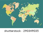map world vector | Shutterstock .eps vector #290349035
