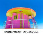 Pink Lifeguard House In Typica...