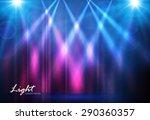 spotlights   empty scene.... | Shutterstock .eps vector #290360357