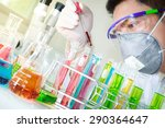 a researcher dropping the clear ... | Shutterstock . vector #290364647