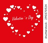 valentines day card with heart. ...   Shutterstock .eps vector #290370524