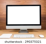 office monitor computer  mouse... | Shutterstock . vector #290375321