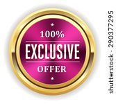 purple exclusive offer seal... | Shutterstock .eps vector #290377295