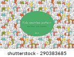 seamless pattern with the image of a group of children, teens, girls, boys with different hairstyles. graphic hand drawn illustration