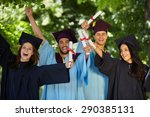 graduation  group of students... | Shutterstock . vector #290385131