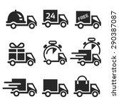 vector icon set delivery car  | Shutterstock .eps vector #290387087