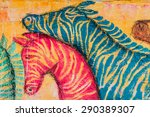 color zebras | Shutterstock . vector #290389307